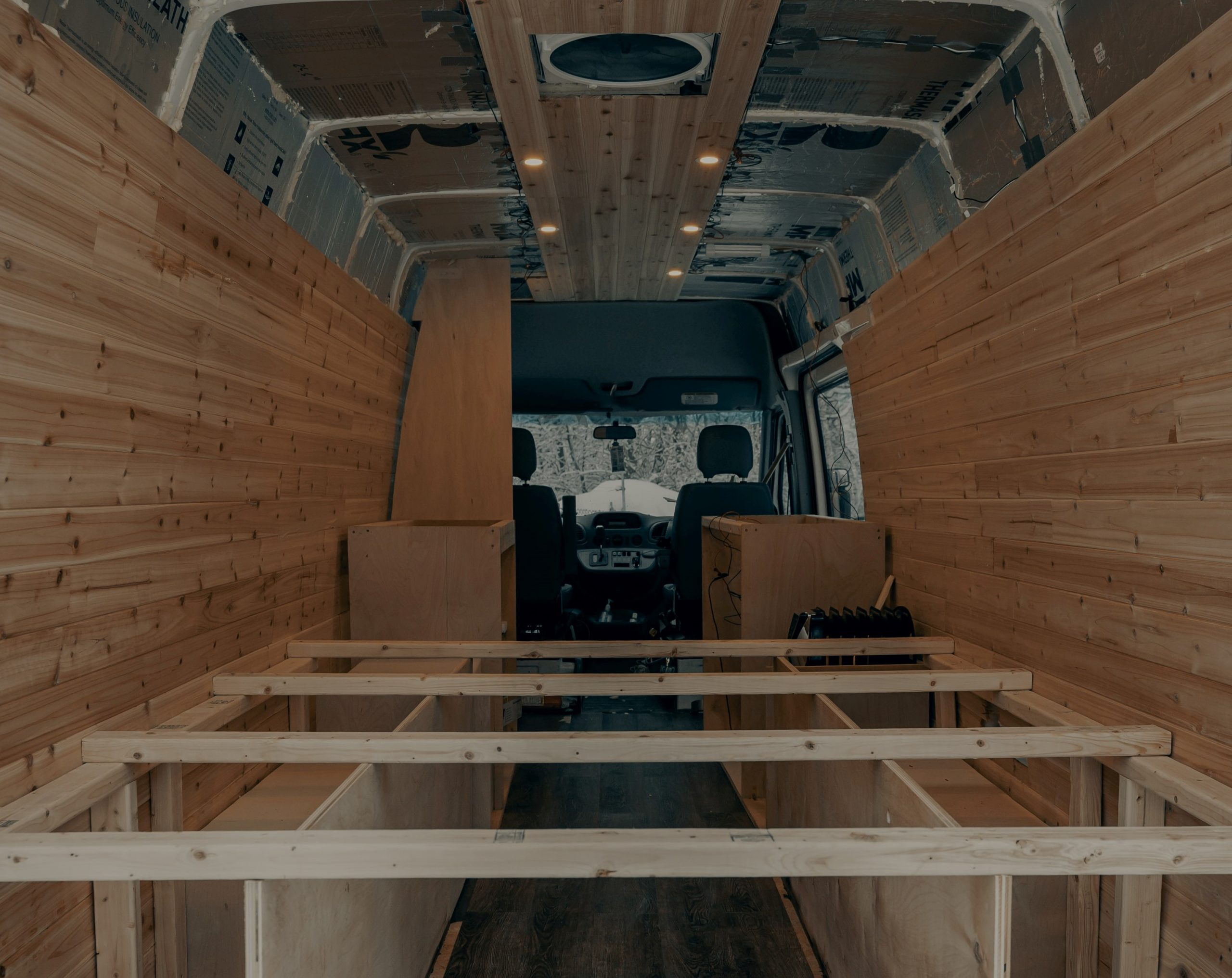 Best van for camper conversion example of van being converted