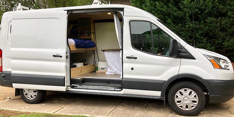 a DIY ford camper conversion