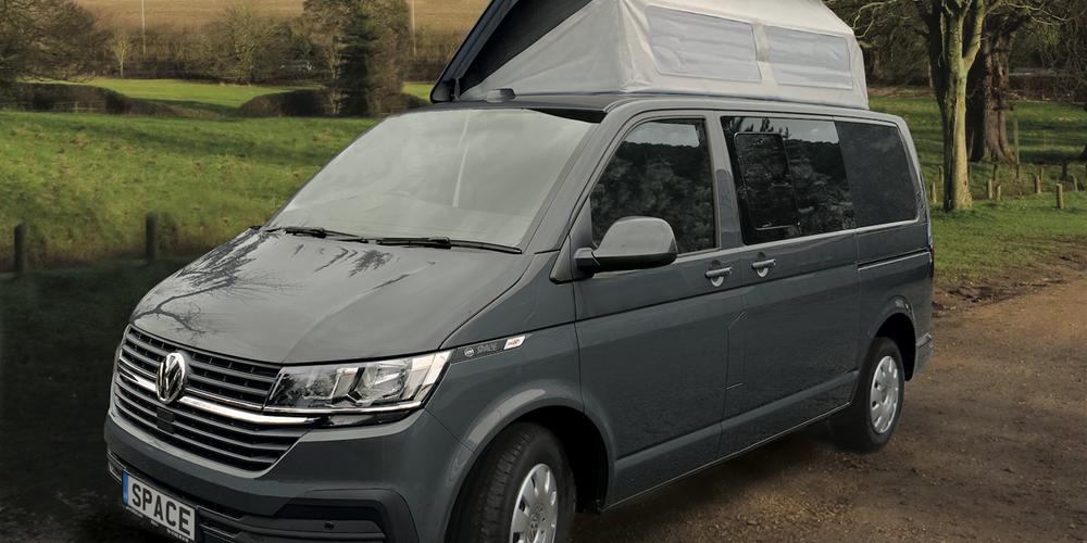 bilbo spacevan small campervan in grey