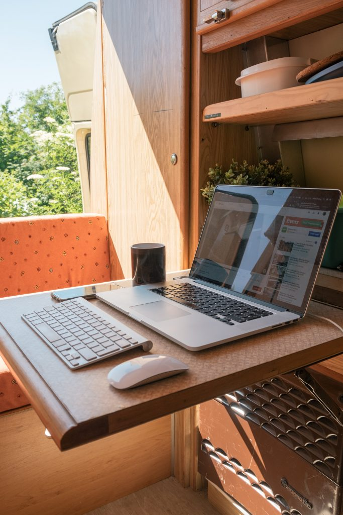 campervan workspace